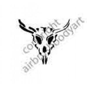 0253 bull skull reusable stencil